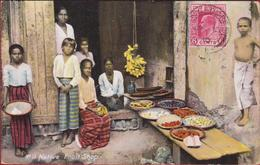 Sri Lanka Native Fruit Shop Ceylon SINGHALESE Natives Old Postcard Ethnique Asie Etnic Asia Etnisch Azie ETHNIC - Sri Lanka (Ceylon)