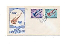 LAB284 - AFGANISTAN 1962 , Space Razzo Rocket Fusee Rakete , Fdc Commemorativa - Afghanistan