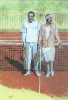 1367 Tennis Da Locandina Pubblicitaria Nizza Suzanne Lenglen Umberto De Morpurgo - Tennis