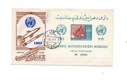 LAB287 - AFGANISTAN 1963 , Space Razzo Rocket Fusee Rakete , Fdc Commemorativa NON DENTELLATO - Afghanistan