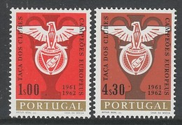 PAIRE NEUVE DU PORTUGAL - DOUBLE VICTOIRE DE L'EQUIPE DE FOOTBALL DU BENFICA DE LISBONNE N° Y&T 914/915 - Eurocopa (UEFA)