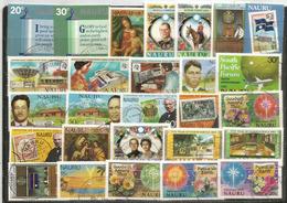Lot De 27 Timbres Oblitérés NAURU , Grands Formats, Oblitérations Rondes, 1 ère Qualité, CÔTE 20 Euro - Nauru
