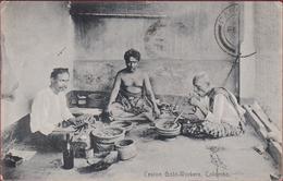 Sri Lanka Ceylon Gold Workers Colombo 1911 Old Postcard Ethnique Asie Etnic Asia Etnisch Azie OLD POSTCARD ETHNIC - Sri Lanka (Ceylon)