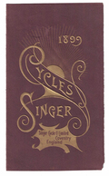 CARTONCINO PUBBLICITARIO  CYCLES SINGER 1899 LIMITED COVENTRY ENGLAND - Plaques Publicitaires