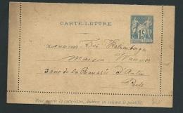 Carte Lettre  Yvt  90 -  CL7    ADRESSE  ECRITE MAIS NON VOYAGE Pb16908 - Postal Stamped Stationery