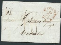 Lac Oblitéré Cachet En Rouge Angoulème En 1832 Pour Montauban   Pb16917 - 1801-1848: Précurseurs XIX