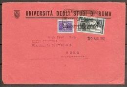 1952 Italia Italy STORIA POSTALE Busta Recapito Autorizzato Viaggiata In Tariffa Roma-Città - 6. 1946-.. Repubblica