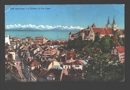 Neuchâtel - Le Chateau Et Les Alpes - 1938 - NE Neuchâtel