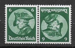 1933 MH Germany, Freddericus, K18 - Se-Tenant
