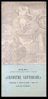 PADOVA - 1957 - PIEGHEVOLE  U.C.A.I.(sezione Di Padova - TEATRO RUZANTE) - INCONTRI LETTERARI - EDVIGE PESCE GORINI - Programmi