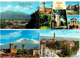 Lot 4 Cpm - IVREA -TORINO - Saluti - - Collections & Lots
