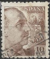 SPAIN 1939 General Franco -  10PTS - Brown FU - 1931-Oggi: 2. Rep. - ... Juan Carlos I