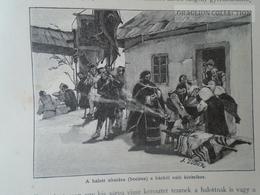 Romania Ukraine -Bukovina Bucovina -Funeral  -Bocirea   Old Print Ca 1890's  OM BUKOWINA 209 - Stiche & Gravuren