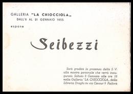 PADOVA - 1955 - INVITO MOSTRA Gall. LA CHIOCCIOLA -  Dipinti Di Seibezzi (Pieghevole Di 4 Facciate - Con Opera) - Programmi