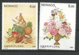 "Monaco YT 1830 & 1831 "" Ameriflora "" 1992 Neuf** - Monaco"