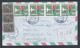 Letter Fined 4 Stamps Of 50 Years Of Portuguese Air Force.Portimão.Canada.Military Aviation.Militärische Luftfahrt.Horse - Militaria