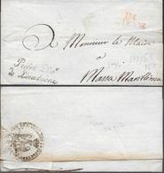 Lettre Sans Correspondance De 114 SIENNE Du Préfet Dép De L'Ombrone Pour Le Maire De Massa Marittima En Toscane - Marcophilie (Lettres)