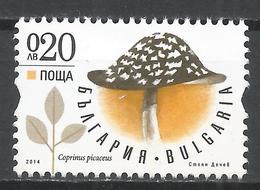 Bulgaria 2014. Scott #4662 (M) Mushroom, Coprinus Picaceus * - Bulgarie