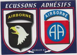 R 27 : Ecusson Blason Autocollant :  Manche  Airborne , Aigle - France