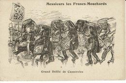 -GRAND ORIENT-DEFILE CASSEROLES  MACONNIQUES-AFFAIRE DES FICHES -COMBES-POLITIQUE-FRANC-MACONNERIE-CARICATURE-masonic - Philosophy