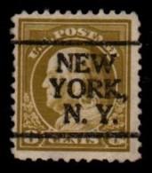 "USA Precancel Vorausentwertung Preo, Locals ""NEW YOR"" (NY). - Stati Uniti"
