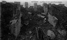 HAUTMONT LES RUINES DU FORT APRES LE BOMBARDEMENT - France