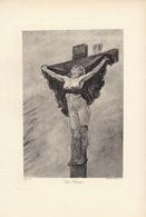 1898 Lithogravure Lithographie De Félicien Rops - Lithografieën