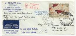 """Enveloppe Rec. Depuis Draguignan RP 21.10.1968 / Retour Expéditeur / Cachet """"OLIMPICA Coapa Mex D.F"""" - Ete 1968: Mexico"""