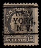 """USA Precancel Vorausentwertung Preo, Locals """"NEW YORK"""" (NY). - Preobliterati"""