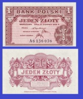 Poland  1    Zloty 1939 - REPLICA --  REPRODUCTION - Poland