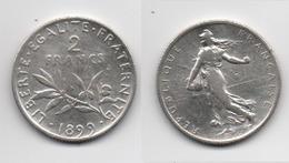 + FRANCE + 2  FRANCS 1899  + TRES BELLE + - I. 2 Francs