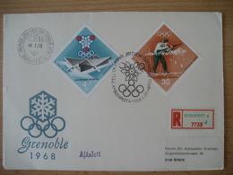 Ungarn- FDC Beleg Olympische Spiele Grenoble 1968 - FDC