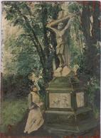 Essai Schilderij Op Hout - Kruis Met Aanbidster.  Old Oud -  Zeer Mooi - Trés Belle- Very Nice , For Specialists - Autres