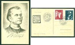 Yugoslavia 1951 Kobarid Vrsno Simon Gregorcic Portrait Card Opening Museum Slovenia - 1945-1992 Repubblica Socialista Federale Di Jugoslavia