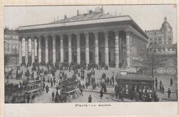 8AK2493 PARIS LA BOURSE BUS AVEC CHEVAUX   2SCANS - Autres Monuments, édifices