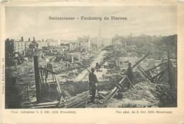 STRASBOURG - Photo Du Bombardement Du 3 Octobre 1870- Faubourg De Pierre - Strasbourg