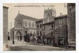 - CPA SAINT-MARTIN-LA-PLAINE (42) - Place De L'Eglise - Edition Veuve Marandon - - Autres Communes