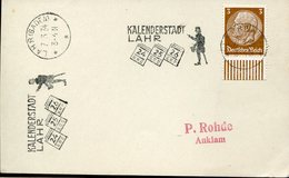 37382 Germany Reich, Special Postmark  1934  Lahr, Baden, Kalenderstadt, Circuled Card - Briefe U. Dokumente