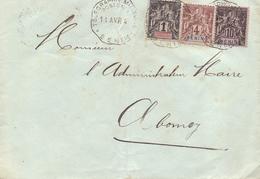 Benin Lettre Obl Telegraphie Militaire Poste N ° Affranchissement Mixte Benin Dahomey Pour Abomey - Lettres & Documents