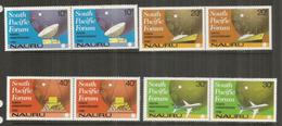 Aviation Et Télécommunications à L'île NAURU,  2 Séries Complètes Neuves ** En Paire Se-tenant - Nauru