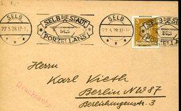 37383 Germany Reich, Special Postmark Circuled Car 1928, Selb, Die Stadt Porzelans, - Briefe U. Dokumente