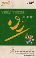 TARJETA TELEFONICA DE CHINA USADA (TABLE TENNIS, J0111(34-18). (003) - Juegos Olímpicos