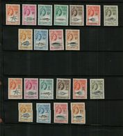 TRISTAN DA CUHNA - QEII - 1960-1961 - MARINE LIFE - MNH (21 Stamps) - Great Britain (former Colonies & Protectorates)