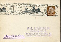 37385 Germany Reich, Special Postmark 1936 Zerbst, Zerbster Pferdemarkt-lotterie 1936 Reit U.fahr Turnier - Briefe U. Dokumente