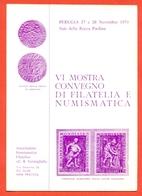 PERUGIA-MOSTRA FILATELIA E NUMISMATICA- - Monete (rappresentazioni)