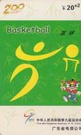 TARJETA TELEFONICA DE CHINA USADA. BASKETBALL. J0111(34-9). (004) - Jeux Olympiques