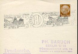 37386 Germany Reich, Special Postmark 1937 Zerbst, Zerbster Pferdemarkt-lotterie 1937 Reit U.fahr Turnier - Briefe U. Dokumente