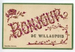 Leuze En Hainaut Carte Fantaisie Bonjour De Willaupuis - Leuze-en-Hainaut