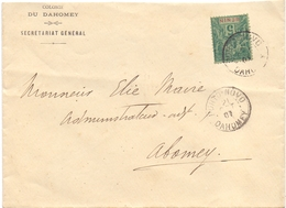 Benin Lettre Affranchie A 5 C Tarif Imprimé De Porto Novo Dahomey Pour Abomey Transit Zagnanado - Lettres & Documents