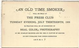 ESTADOS UNIDOS USA 1909 ENTERO POSTAL SMOKER TABACO TOBACCO - Tabaco